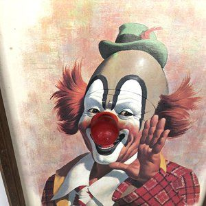Vintage Wall Art - VTG Arthur Sarnoff Happy Clown Musical Framed Art